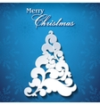 Floral Christmas Tree Background vector image