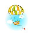 A hot-air balloon vector image
