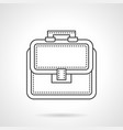 bag of lawyer flat line icon vector image