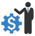 Businessman Options Flat Icon vector image