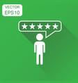 customer reviews rating user feedback icon vector image