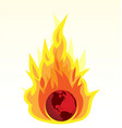 global warming and earth burning vector image