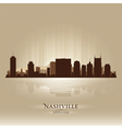 Nashville Tennessee skyline city silhouette vector image