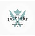 Restaurant Logo Hand Drawn Template Design vector image