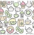 seamless pattern of tea tea ceremony vector image