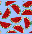 wallpaper juicy summer watermelon slices on a vector image