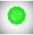 Opened green umbrella top view closeup vector image vector image