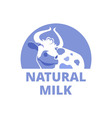 Logo with a smiling cow vector image