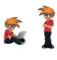 Smart boy vector image vector image