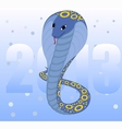 Background with blue cobra vector image