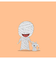 Cartoon mummy and dog vector image