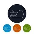 Icon cargo ship vector image