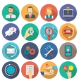 Support Icons Flat Set vector image
