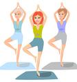 yoga classes vector image