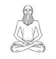 yogi meditation coloring book vector image