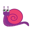cute snail character funny vector image