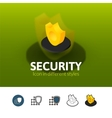 Security icon in different style vector image