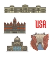 Famous popular tourist attractions of USA vector image