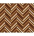 Parquet pattern in dark brown colors vector image