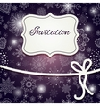 Christmas invitation card vector image vector image