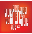 Test tube icon microbiology equipment vector image