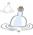 Bottle in the water vector image vector image