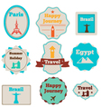 Travel stamps set vector image