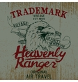 Vintage label with eagle vector image