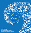 close icon sign Nice set of beautiful icons vector image