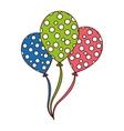 balloon air birthday isolated icon vector image