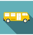 Bus icon flat style vector image