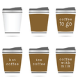 cup of coffee in small glasses icon in colorful vector image