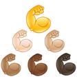 flexed biceps hand emoji vector image