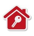 key property isolated icon vector image