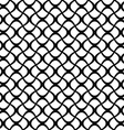 Monochrome seamless curly fence pattern vector image