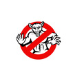 Rat Busted Stop Sign Retro vector image