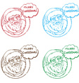 santa stamp collection vector image