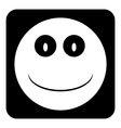 Smile face button vector image