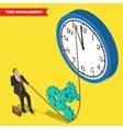 Time management concept vector image