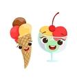 Ice-Cream Kids Birthday Party Happy Smiling vector image