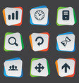 set of simple apps icons vector image