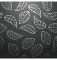 Seamless black leaves background vector image