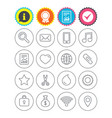 universal icons smartphone mail and music vector image