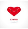 Love letter symbol Lovemail vector image
