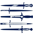 Edged weapons of the navy vector