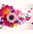 abstract floral spring background vector image vector image