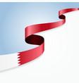 Bahrain flag background vector image vector image