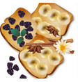 fruit toast breakfast sweet vector image