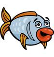 funny fish cartoon vector image