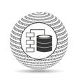 globe binary concept database storage vector image